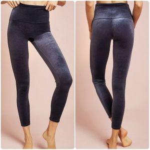 Spanx velvet leggings high waisted blue moon slate